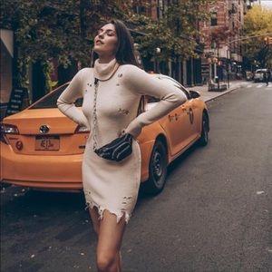 Lovers + Friends Keeney ivory sweater dress